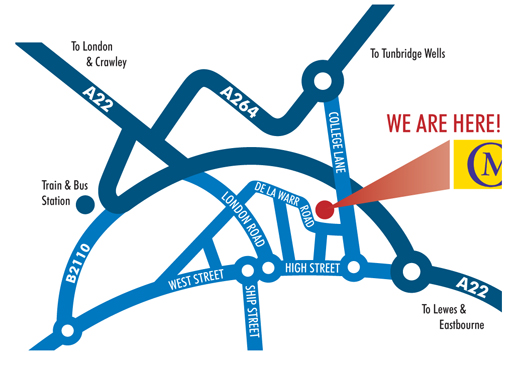 Chequer Mead How To Find Us - How to find us map