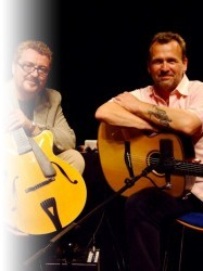 Martin Taylor and Martin Simpson at Chequer Mead, East Grinstead