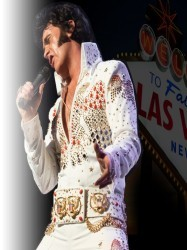Elvis in Vegas at Chequer Mead, East Grinstead