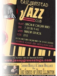 EG Jazz Club November at Chequer Mead, East Grinstead